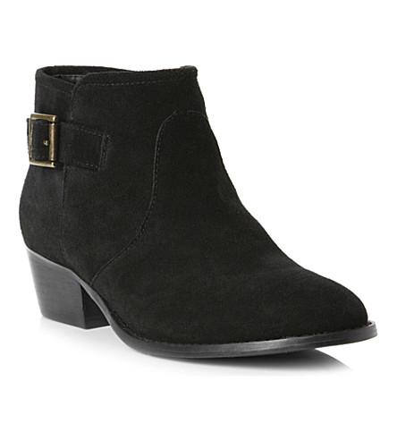 STEVE MADDEN Prizzze suede ankle boots (Black-suede
