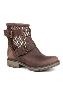STEVE MADDEN Flank fishnet leather boots