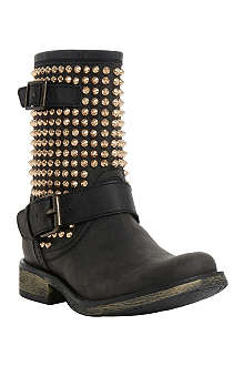 STEVE MADDEN Studded leather biker boots