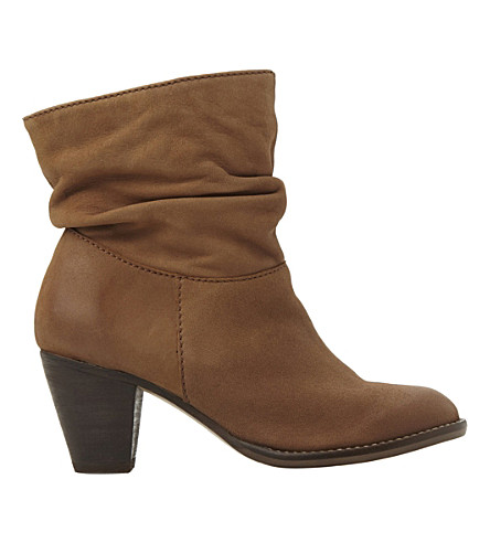 STEVE MADDEN Ruched calf boots (Tan-leather