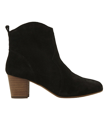 STEVE MADDEN Western suede ankle boots (Black-suede