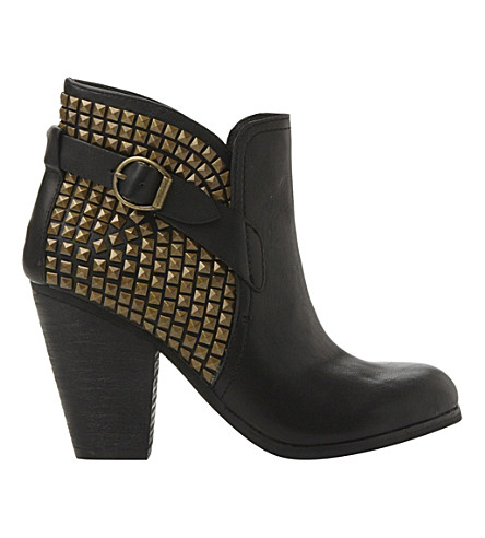 STEVE MADDEN Alani studded cowboy boots (Black-leather