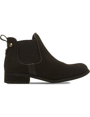STEVE MADDEN Gilte Chelsea ankle boots