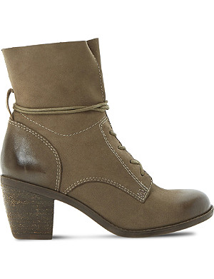 STEVE MADDEN Gretchun leather lace-up boots