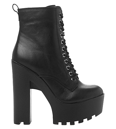 STEVE MADDEN Globaal platform ankle boots (Black leather