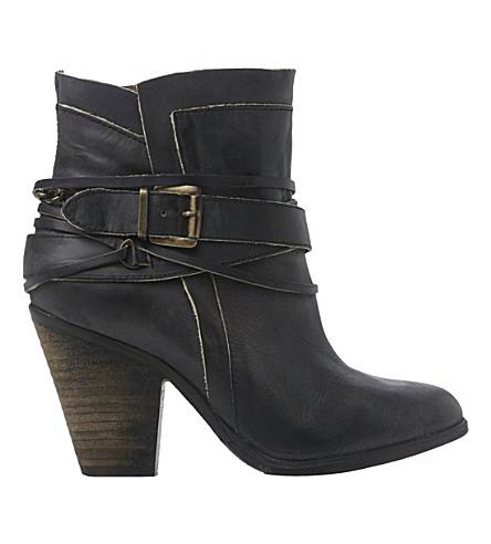 steve madden nadal buckle ankle boots selfridges