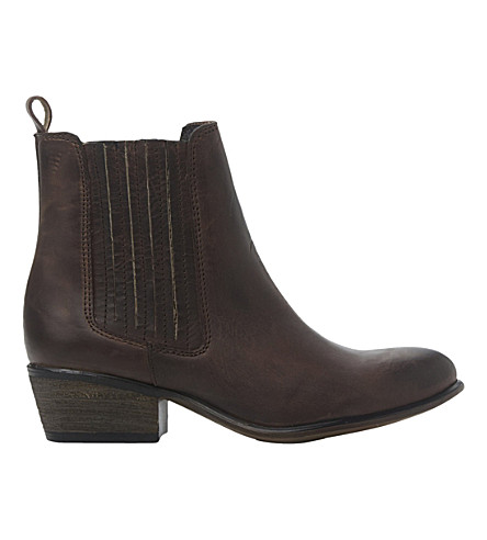 STEVE MADDEN Leather ankle boots (Brown-leather