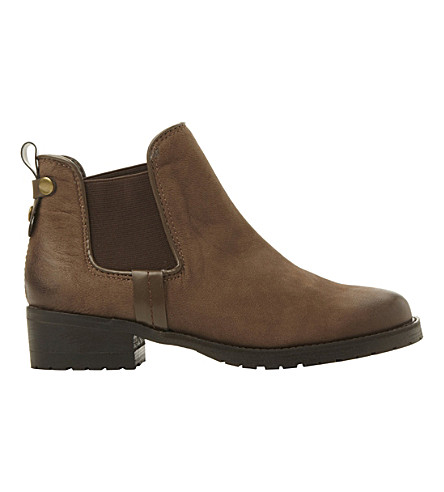 STEVE MADDEN Graaham nubuck leather Chelsea ankle boots (Brown-nubuck