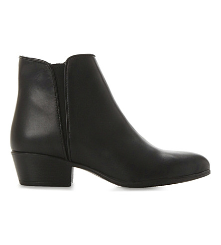 STEVE MADDEN Line low leather ankle boots (Black-leather