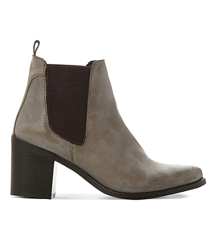 STEVE MADDEN Leather gusset boots (Grey-leather
