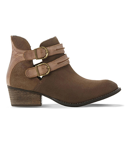 STEVE MADDEN Raskal double-strap suede boots (Tan-suede
