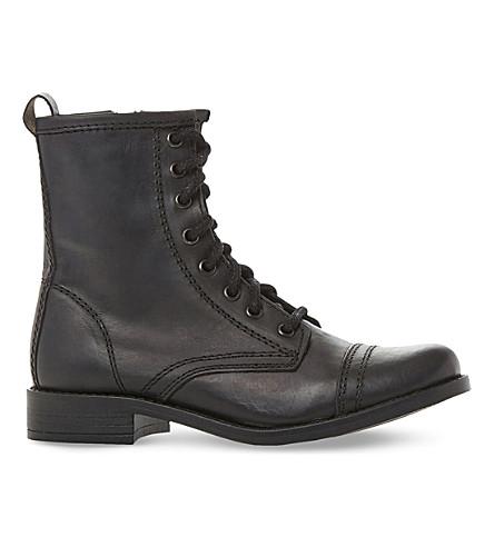 STEVE MADDEN 皮革摩托皮靴 (黑色皮革