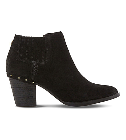 STEVE MADDEN Tinker suede ankle boots (Black-suede