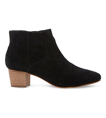 steve madden allday suede western ankle boots