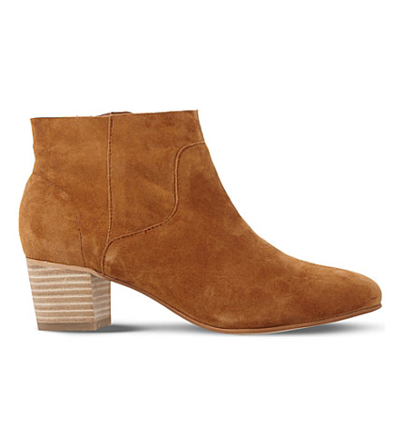 STEVE MADDEN Allday suede western ankle boots (Tan-suede