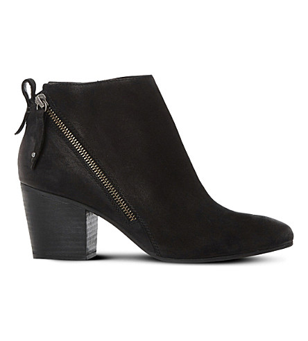 STEVE MADDEN Jaydun leather ankle boots (Black-leather