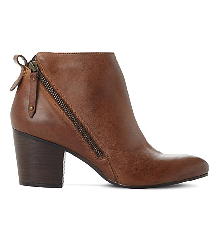 STEVE MADDEN Jaydun leather ankle boots (Tan-leather