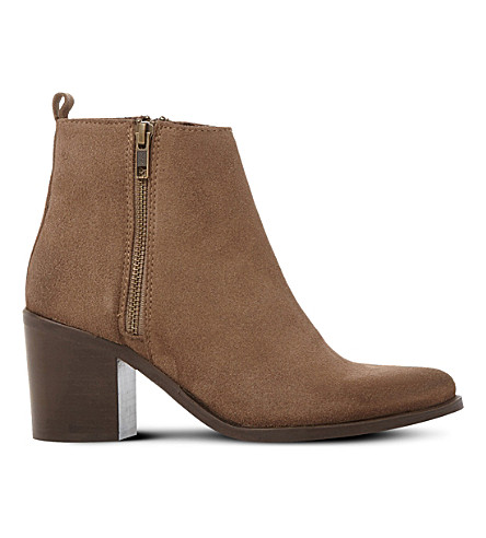 STEVE MADDEN Porta leather ankle boots (Taupe-suede