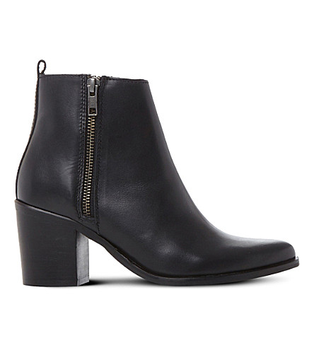STEVE MADDEN Porta leather ankle boots (Black-leather