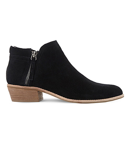 STEVE MADDEN Tobii zipped suede ankle boots (Black-suede