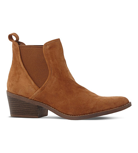 STEVE MADDEN Pointed suede Chelsea boots (Tan-suede