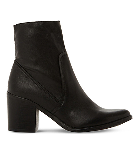 STEVE MADDEN Peaches SM leather ankle boot (Black-leather