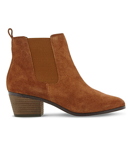 STEVE MADDEN Radley SM suede Chelsea boots (Tan-suede