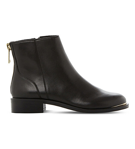 STEVE MADDEN Rileey leather Chelsea boots (Black-leather