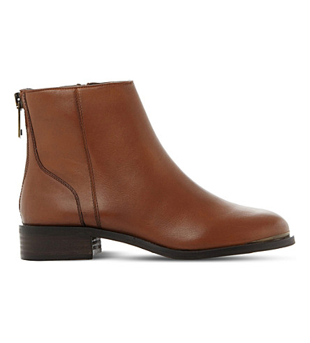 STEVE MADDEN Rileey leather Chelsea boots (Brown-leather