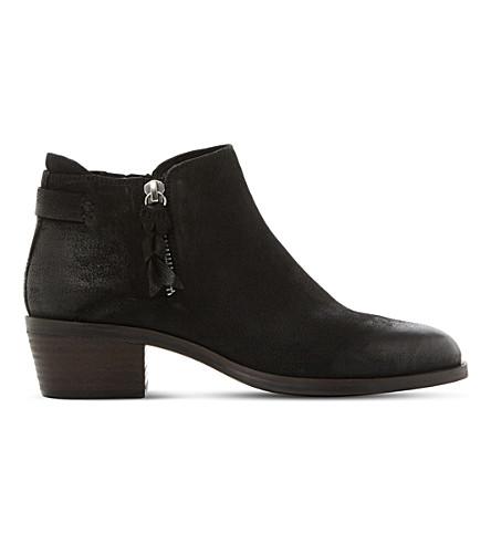 STEVE MADDEN Kyle suede heeled ankle boots (Black-nubuck