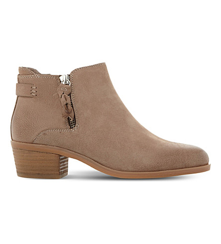 STEVE MADDEN Kyle leather heeled ankle boots (Stone-nubuck