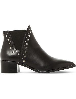 STEVE MADDEN Doruss sm leather studded ankle boots