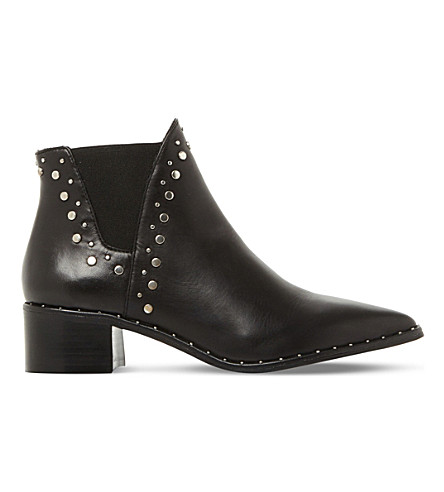 STEVE MADDEN Doruss sm leather studded ankle boots (Black-leather