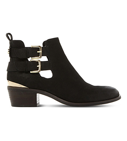STEVE MADDEN Picos leather ankle boots (Black-leather