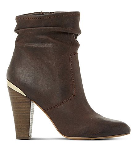 STEVE MADDEN Wannabee sm leather boots (Brown-leather