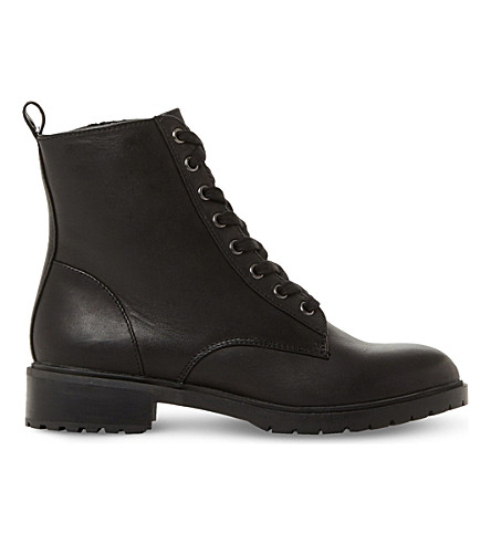 STEVE MADDEN Officer leather ankle boots (Black-leather