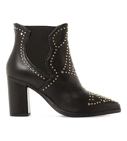 STEVE MADDEN Himmel sm studded leather ankle boots (Black-leather