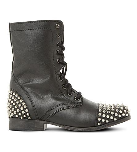 STEVE MADDEN Tarney studded leather boots (Black-leather
