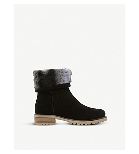 STEVE MADDEN Driller suede and faux-fur boots (Black-suede