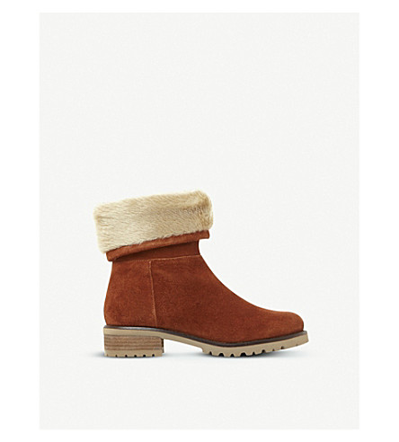 STEVE MADDEN Driller suede and faux-fur boots (Tan-suede