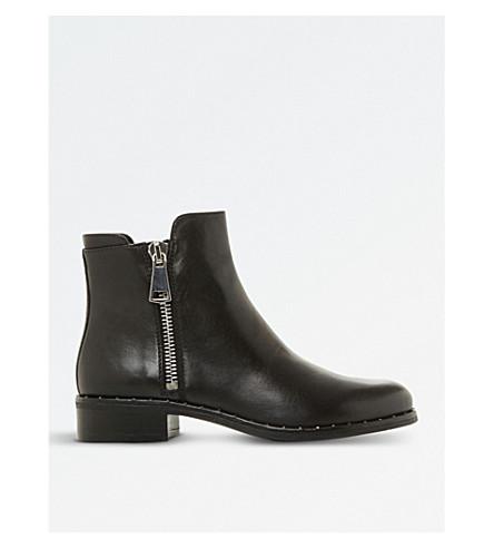 STEVE MADDEN 踝靴皮革 (黑色皮革