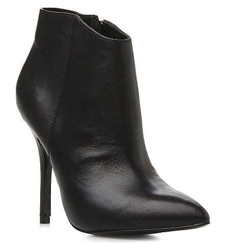 STEVE MADDEN Heeled pointed-toe ankle boots (Black leather