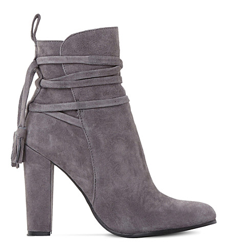 STEVE MADDEN Glorria suede ankle boots (Grey-suede