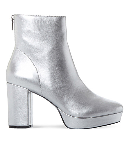 STEVE MADDEN Peace SM leather ankle boot (Silver-leather