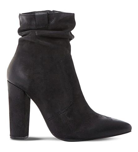 STEVE MADDEN Ruling SM ruched ankle boots (Black-nubuck