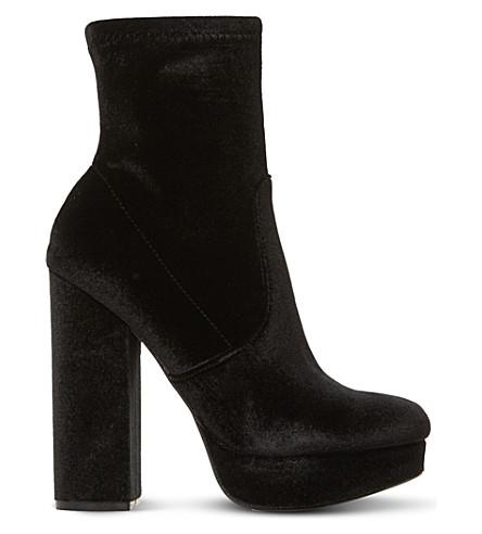 STEVE MADDEN Stardust sm velvet platform boots (Black-velvet