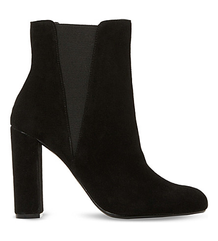STEVE MADDEN Effect suede ankle boots (Black-suede