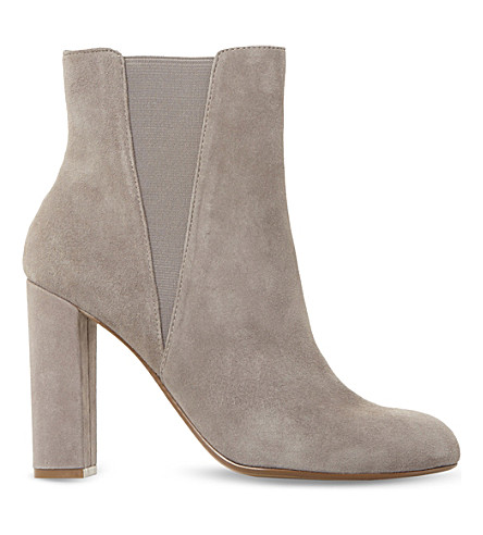 STEVE MADDEN Effect suede ankle boots (Grey-suede