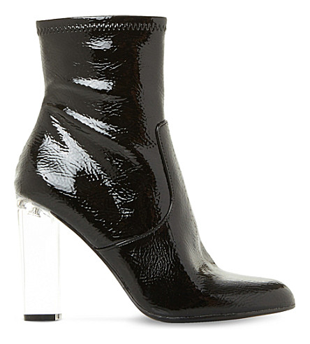 STEVE MADDEN Eminent 漆皮踝靴 (黑专利