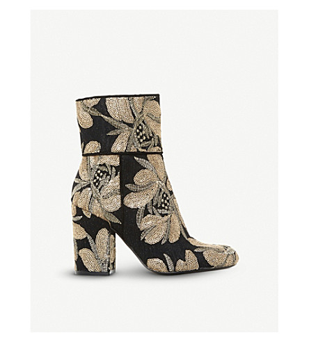 STEVE MADDEN Goldie brocade ankle boots (Multi-printed+synthetic